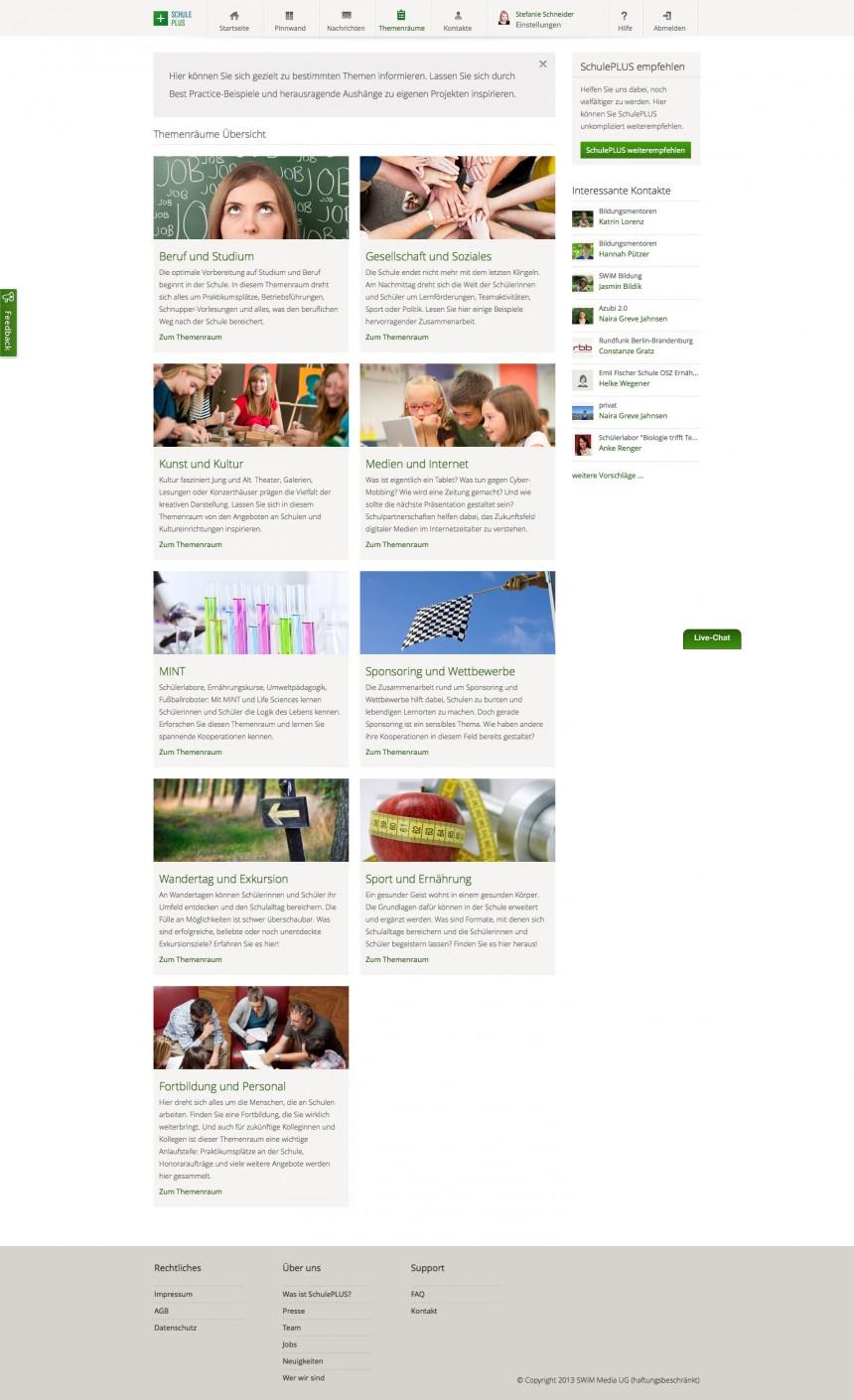 SchulePlus - fields of topics