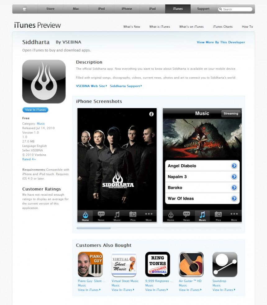 Siddharta iPhone Application